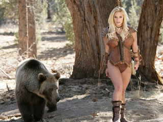 She wants to fuck with a bear but while she is...